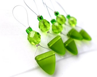 LAST SET - Apple Martini - Five Snag Free Stitch Markers - Fits Up To 6.0 mm (10 US) - Limited  Edition