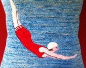 Hooked Pillow - Diving Girl