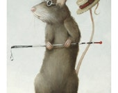 Blind Mouse 2. Signed Print of an Original Oil Painting