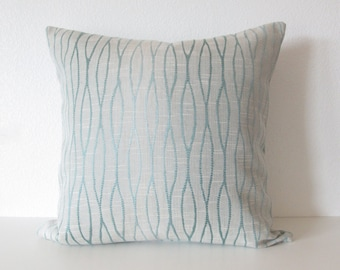 Lee Jofa Groundworks Waves Ombre - Aqua blue tones - high end 20x20 designer pillow cover