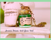 Arsenic Poison Car Charm , Glow in the Dark ,5ml Glass vial Unisex Car Charm , Deco ,Etc, Necklace With Chain By: Tranquilityy