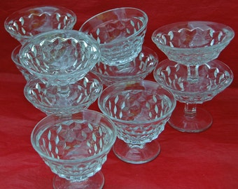 Vintage 10 AMERICAN FOSTORIA Flared SHERBETS Excellent Unused Condition, Ca 1950s, Very Collectible Glass