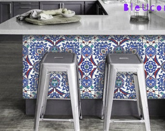 Izmir Breakfast Bar Tile Wall Kitchen Bathroom Backsplash Decal Removable Stair Riser