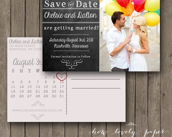 Printable Save the Date Postcard - the Emma Collection