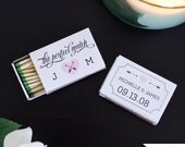 The Perfect Match Printable Wedding Favor for Matchbox Covers - Customizable - DIY - Chalkboard and White