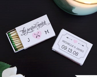The Perfect Match Personalized Matchbox Covers Wedding Favor Wedding Matchbox Wedding Matchbox Favors