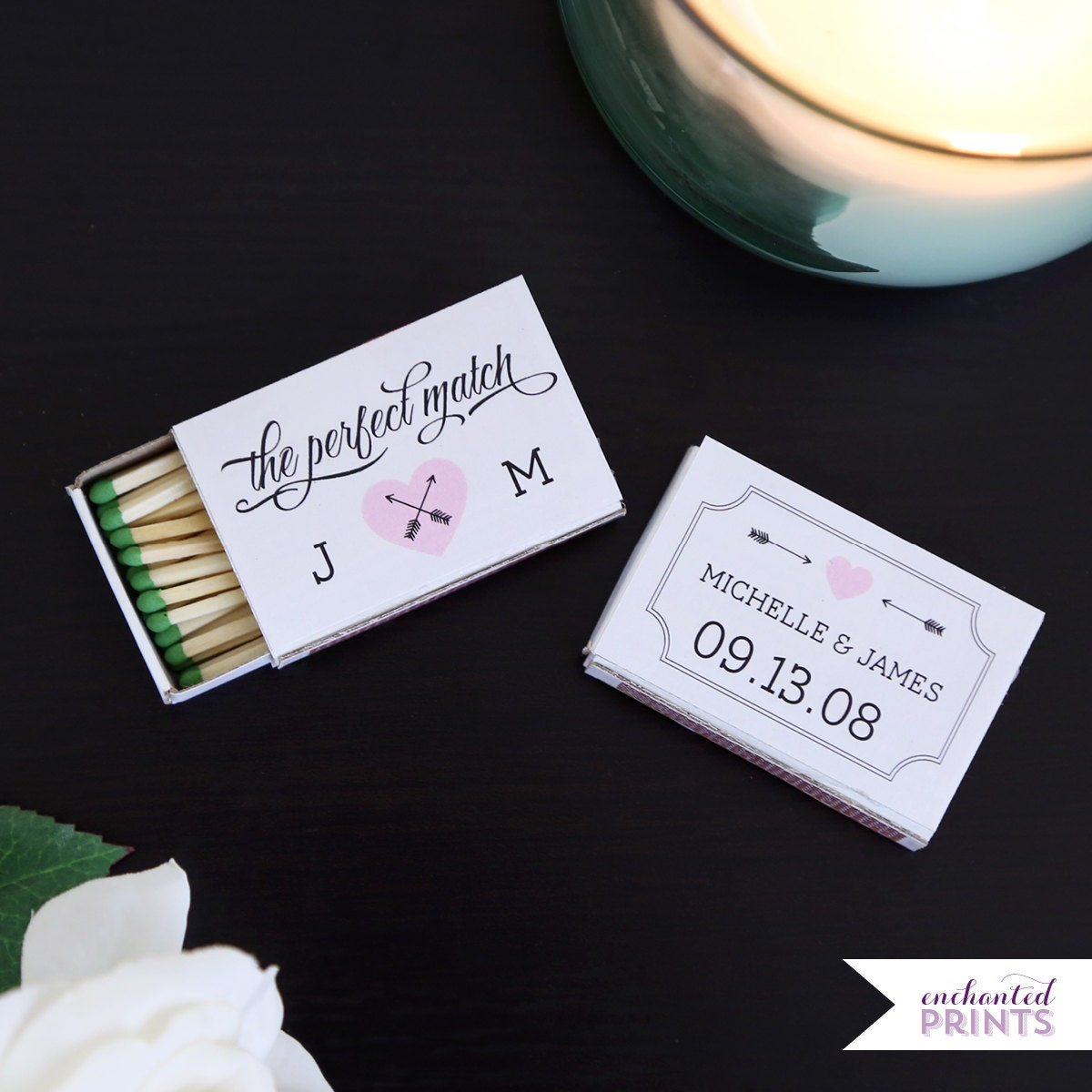 Wedding Personalized Matchbooks the perfect match personalized matchbox covers wedding favor