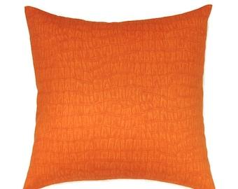 Orange Pillow Cover, 20x20 Pillow Covers, Decorative Pillows, Autumn Fall Decor, Sofa Throw Pillow, Modern Pillow Cover, Zendi Nectar