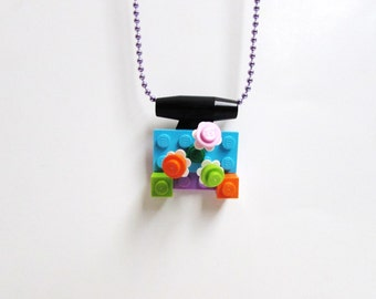 Lego Build It Yourself Necklace, Lego Necklace, Lego Birthday Party, Lego Party Favor