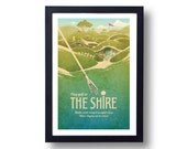 Lord of the Rings Poster The Shire Minigolf Travel Poster