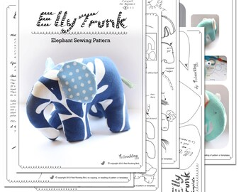 Elephant Sewing Pattern - PDF SALE