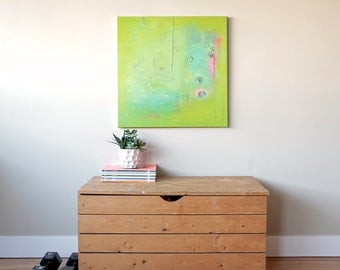 """Original Abstract Painting - Acrylic on Canvas - 24 x 24 x 1"""" by Lola Maier"""