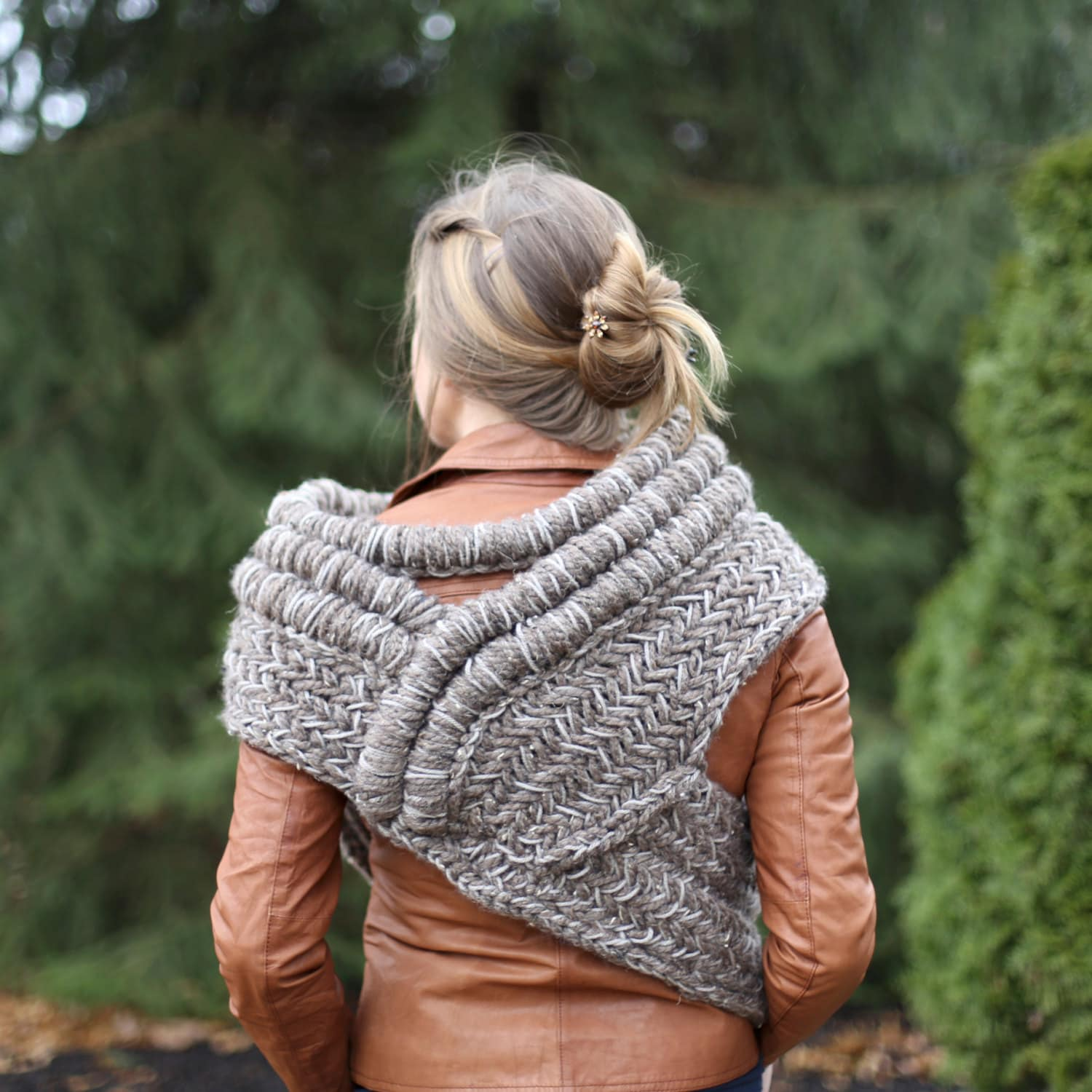 SALE Katniss inspired cowl vest scarf shawl / MADE To ORDER