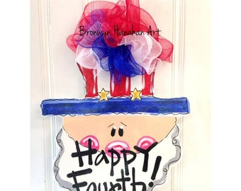 Happy Fourth Door Hanger - Bronwyn Hanahan Art