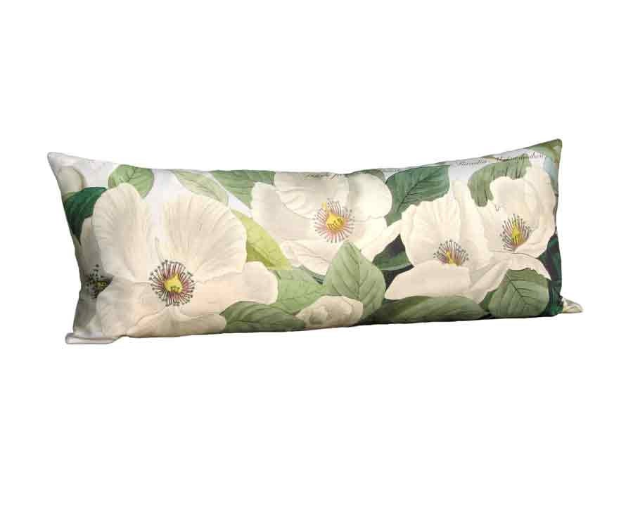 White Blossom Linen Pillow Cover 14x36 14x20 Inch By Artanlei