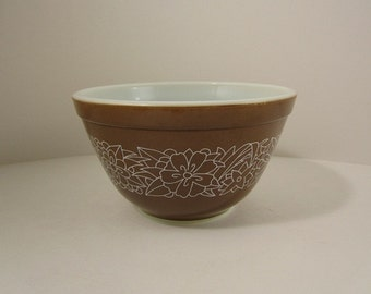 Pyrex Bowl Woodland Brown 401 750 ml/ 3 1/2 Cups