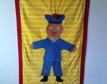 Baby Play Mat, Kids Blanket, BedThrow Handmade OOAK