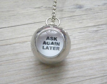 Ask the Magic Ball Necklace: orb locket pendant