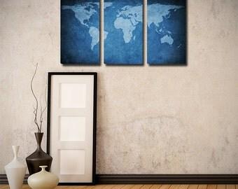 World Map Triptych (w/ Free Shipping!)