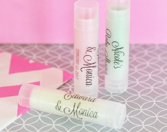 Personalized Lip Balm Wedding Lip Balm Favors Organic Lip Balm with Custom Lip Balm Labels Unique Wedding Favors - 20| pcs (EB3031CL)