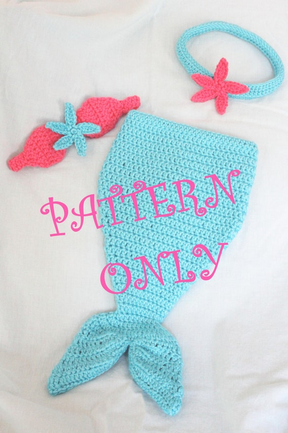 PATTERN Crochet Baby Mermaid Tail with Starfish Top