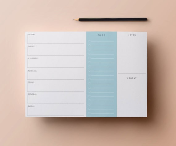 Weekly Planner Retro Printable Planner With By
