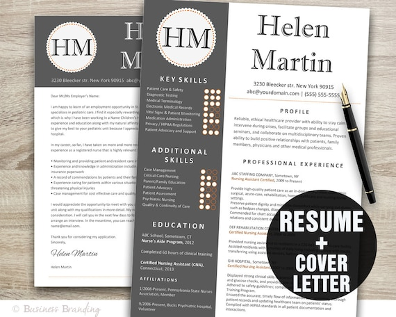 classy resume template instant download resume cover letter template resume template word cv template - Classy Resume Template