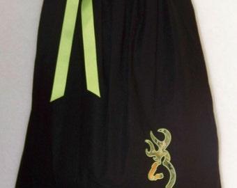 Camo Dress / Deer / Realtree / Black / Green / Newborn / Infant / Baby / Girl / Toddler / Handmade / Custom Boutique Clothing