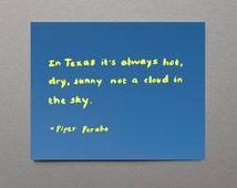 State of Texas Art Print Quote Art Print Custom Quote Art State Art Texas University Texas Gift Sunny Yellow Rustic Texas Decor Preppy Art
