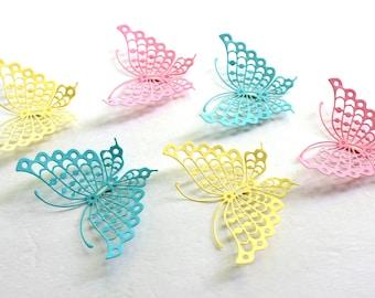 Baby Shower butterfly - Paper Butterflies - 3d Butterfly wall art - Butterfly wall decal - baby shower decorations - baby wall art