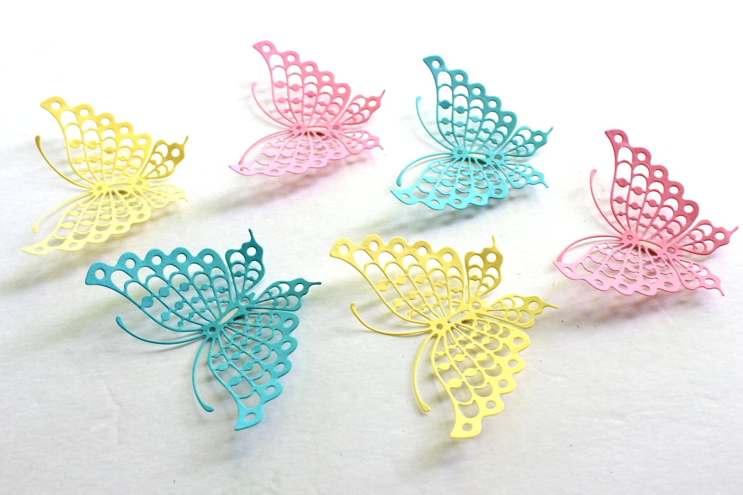 Baby shower butterfly paper butterflies 3d butterfly wall for Baby shower decoration butterfly