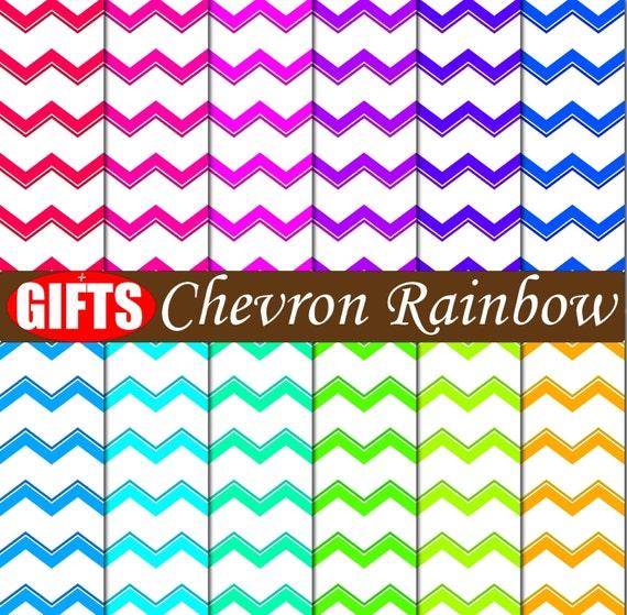 Chevron digital paper Chevron decor Zig Zag chevron scrapbook paper Colorful Art chevron party decorations Chevron clipart Chevron print art