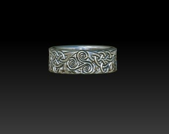 wedding ring celtic ring  celtic jewelry celtic wedding rings mens ring  wide silver and gold wedding ring  anelli bague  ZB17
