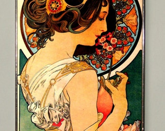 Alphonse Mucha - Primrose, Stained Glass