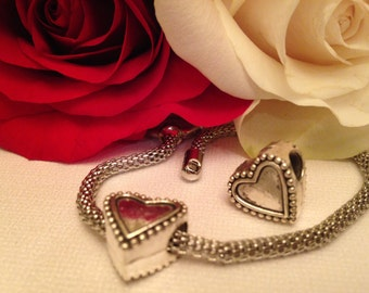 Heart charm, valentines day charm, heart,bracelet charms, european charm beads, charms for bracelet,