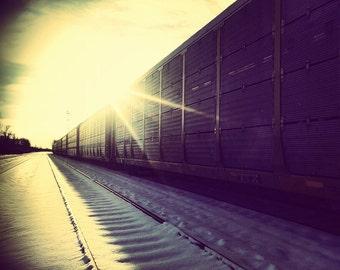 Train Sunrise