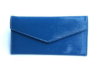 Women's Blue Leather Wallet, Women's Blue Leather Purse, Leather Wallet, Leather Purse, Blue wallet, Blue Purse , Womens wallet