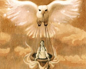 Kayana: Original Illustration on Wood, 18x24in