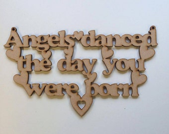 Angels danced the day you were born plaque