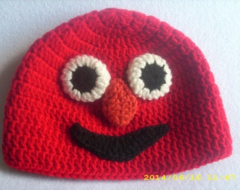 Crochet Elmo hat