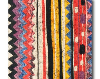 Cotton Quilting Fabric by the Yard- Alexander Henry - Pow Wow Stripes Southwest