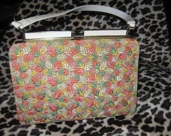 Sweet 50s Multi Color Embroidered Handbag