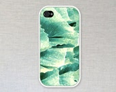 Green Wave Pattern iPhone Case