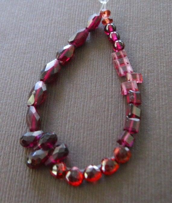 Sampler Red Garnet Beads