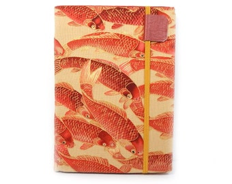 Kindle Paperwhite Cover - Burning Embers Koi - orange and khaki fish print eReader case - also fits Kindle Touch