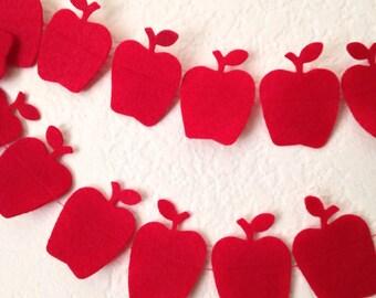 Mini Felt Apple Garland