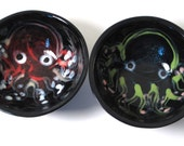 Little octopus dipping bowls, sushi, salt and pepper, mini, serving, pottery, ceramic, tentacle