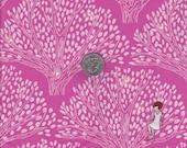 Fat quarter - Tree Lights in Rose - Michael Miller cotton quilt fabric