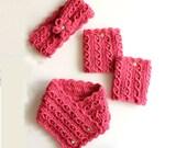 She's A Gem Crochet Pattern Set - Neck Warmer, Headband And Boot Cuffs