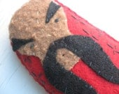 Tiny Fu Manchu Doll with embroidered robe and signature mustache